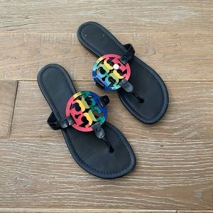 Tory Burch Rainbow Blue Miller Sandals